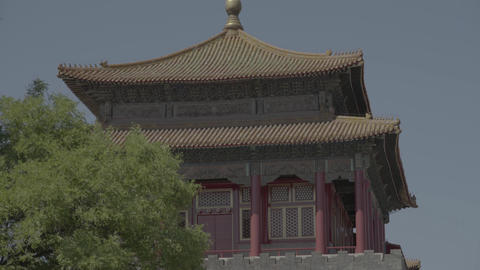 Chinese architecture. Beijing. China. Asia Live Action