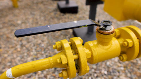 Black handle on the yellow pipe Live Action