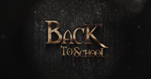 Back To School Fantasy Title Design Live Action