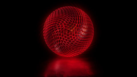 Abstract sphere of volumetric cubic blocks. looped Animation