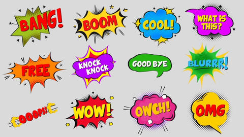 Modern Comic Bubbles Motion Graphics Template