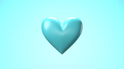 Pale blue broken heart objects in pale blue background. Heart shape object shattered into pieces Animation