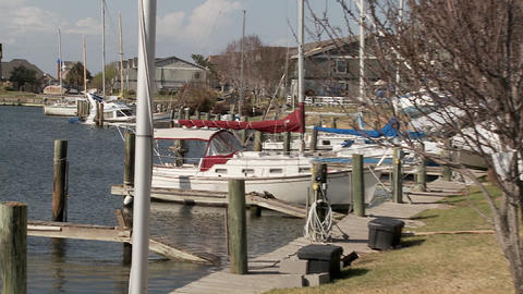 Boats are beached after Hurricane Ike rips through... Stock Video Footage