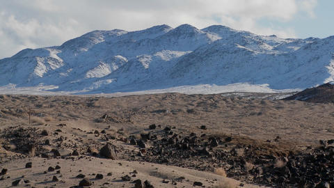 Time lapse of the Nevada desert in winter Stock Video Footage
