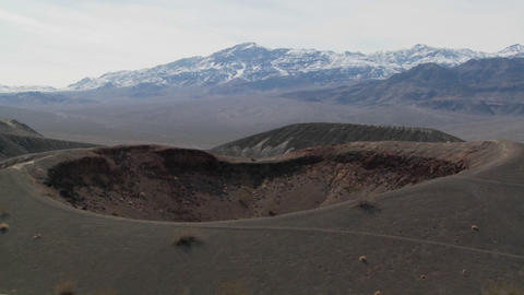 An amazing volcanic crater in Death Valley National Park Footage