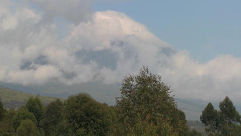 A beautiful time lapse of the Virunga volcanoes on the... Stock Video Footage
