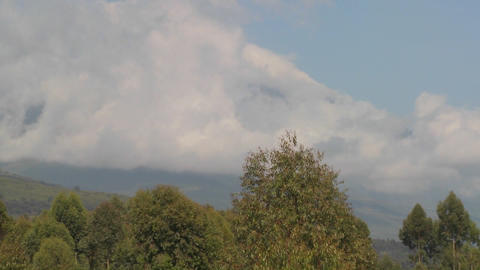 A beautiful time lapse of the Virunga volcanoes on the Rwanda Congo border Footage