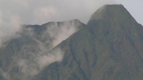 Nice time lapse of clouds and mist on the Virunga volcano... Stock Video Footage