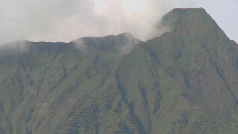 Nice time lapse of clouds and mist on the Virunga volcano chain in Rwanda Footage