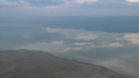 Aerial shots over Lake Manyara in Tanzania, Africa Footage