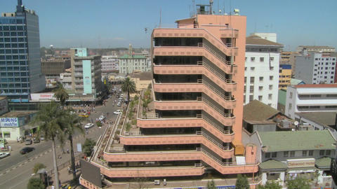 Pan across Nairobi buildings, offices and streets Footage
