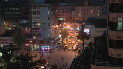 A night view of the streets of Nairobi, Kenya Footage