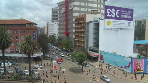Busy street scene in Nairobi, Kenya Footage