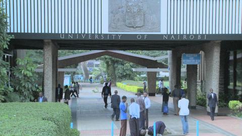 The University of Nairobi campus in Kenya Footage
