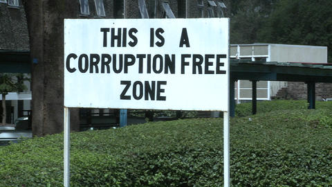 A sign at the University of Nairobi in Kenya proclaims a... Stock Video Footage