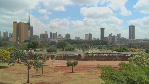 A good wide shot of the city of Nairobi, Kenya Stock Video Footage