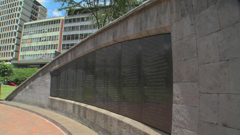 The Nairobi bombing Memorial commemorates the tragedy of... Stock Video Footage