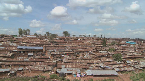 Time lapse shot over the slums of Nairobi, Kenya Stock Video Footage