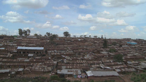 Time lapse shot over the slums of Nairobi, Kenya Footage
