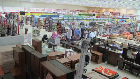 A high angle view over a supermarket in Nairobi, Kenya Stock Video Footage