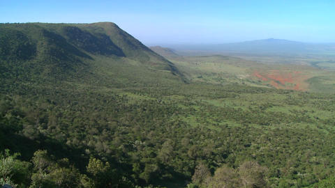 Beautiful overview of the Rift Valley in Kenya Stock Video Footage