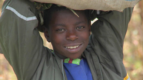 A sweet African face smiling Stock Video Footage