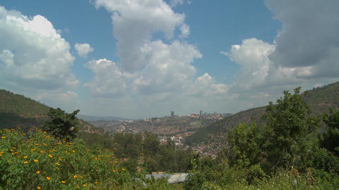 A view of Kigali, capital of Rwanda Stock Video Footage