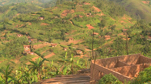 Establishing shot across the lush tropical countryside of... Stock Video Footage