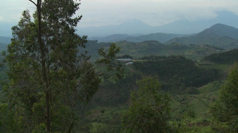 Slow pan across the lush landscapes surrounding the... Stock Video Footage