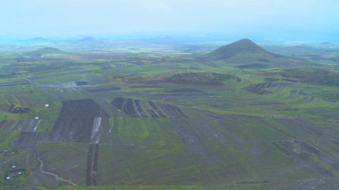 Aerial shots over the coffee plantations of Africa Stock Video Footage