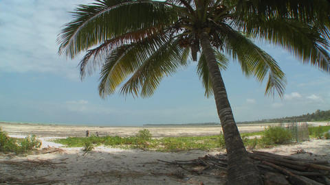 A view of a perfect tropical beach on a tropical island... Stock Video Footage