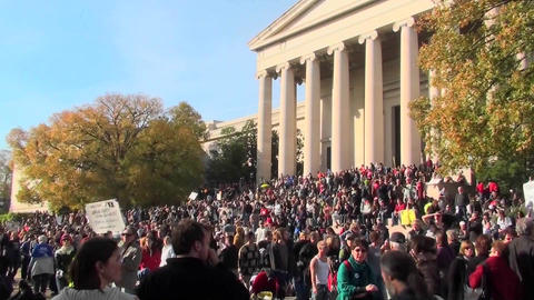 Huge crowds at the Jon Stewart Stephen Colbert rally in... Stock Video Footage
