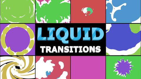 Liquid Transitions Collection After Effects Template