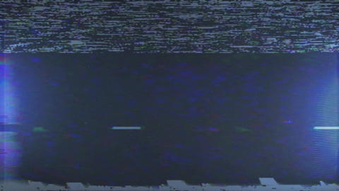 Digital pixel noise vhs effect on the blue screen Live Action