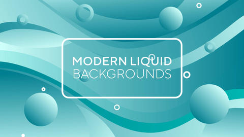 Modern Liquid Backgrounds After Effects Template
