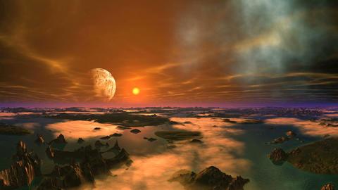 Alien Planet Landscape Animation