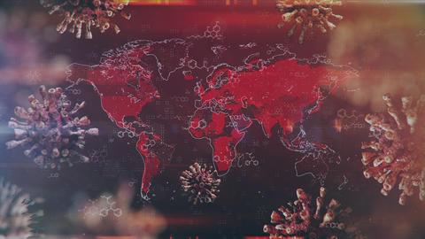 Global Mapping Coronavirus Pandemic Animation