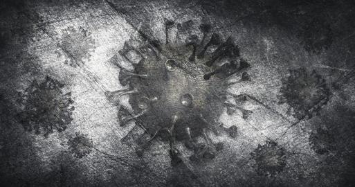 Coronavirus outbreak pandemic. Grunge, destroyed background with Ncov-19 bacteria 3D illustration Fotografía