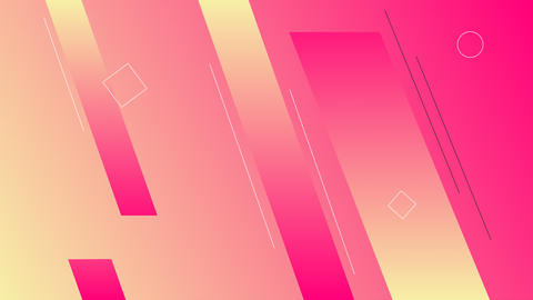 Simple looped pink background with geometric shapes GIF