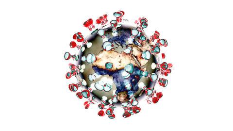 Artistic 3D animation of the coronavirus Animation