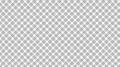 Tartan check diagonal pattern of black and white. Seamless loop Animation