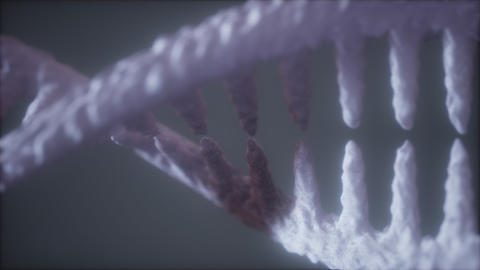 bright particulate 3D rendered DNA ライブ動画