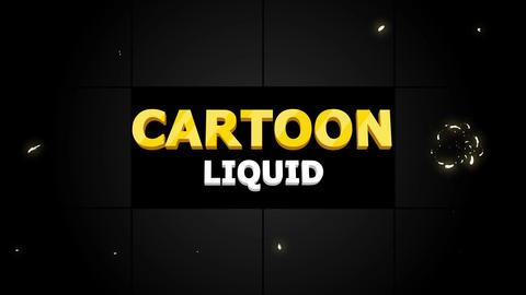 Cartoon Liquid AE 模板