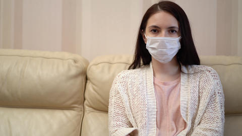 Stressed Young Woman Thinking of Health Problems Live Action