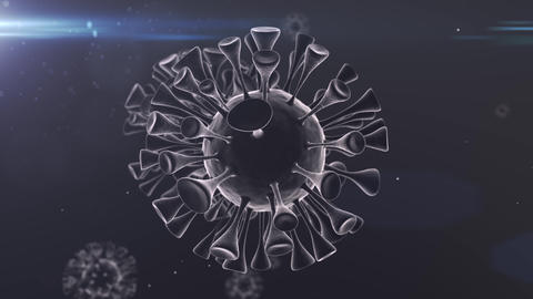 Virus Covid-19 Corona Spinning particles Loop white center Loop Animation
