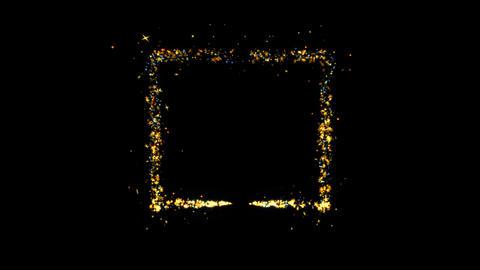 Box Sparkling Golden glitter Spiral lens effect Live Action