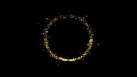 Circle Sparkling Golden glitter Spiral lens effect Live Action