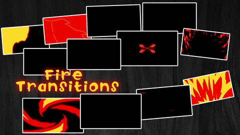 Fire Transitions Motion Graphics Template