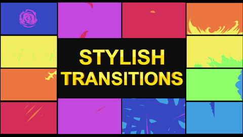 Stylish Transitions Apple Motion Template