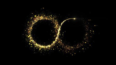 Infinity Sparkling Golden glitter Spiral lens effect Live Action